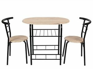 Mainstays 3 Pc Metal and Wood Dining Set Table Height 29.15#x27;#x27;Multiple Colors $89.99