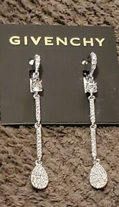 Earrings Givenchy Silver Cubic Zirconia Dazzling Dangle�Very Sparkly Sexy💋🥰 $21.95