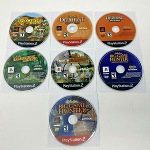 Cabela#x27;s Lot of 7 Hunting Games Sony PlayStation 2 PS2 *DISCS ONLY TESTED*