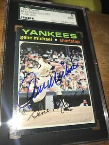 Gene Michael Autographed Signed 1971 Topps Card #483 Yankees SGC Certified MINT $39.95