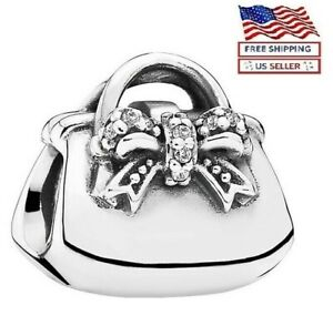 New Authentic PANDORA Sterling Silver S925 ALE Shopping Bag Bead Charm $23.99