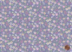 100% Quilting Sewing Cotton Fabric Lavender Purple Floral Print Marshall#x27;s BTY $11.25