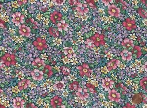 100% Quilting Sewing Cotton Fabric Multiple Color Floral Print Marshall BTY $10.25