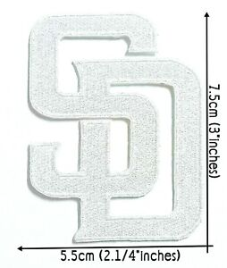 SD White Baseball Sport Patch Logo Embroidery IronSewing on Clothes $2.89