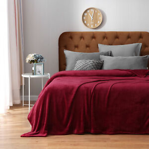 Faux Fur Fleece Blanket Large Sofa Mink Bed Throw Soft Warm Double King Sizes