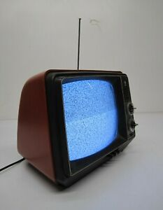 Vtg General Electric GE Performance Portable TV Television 12XB9104T Red 11.5 $188.95