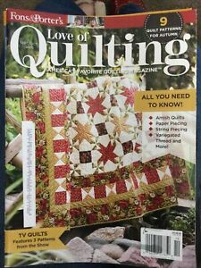 Fons and Porter Love of Quilting. Sept Oct. 2016 $4.00