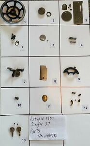 ANTIQUE 1900 SINGER 27 SEWING MACHINE PARTS Free Shipping $12.99