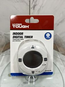 Hyper Tough Indoor Digital Timer 2 Prong Battery BackUp 2 Programs A Day NIP