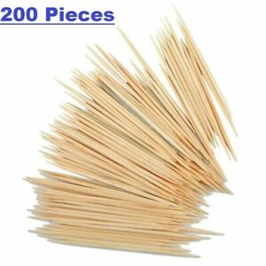 200Pcs Tooth Picks Double Pointed Oral Care Toothpick Appetizer Sticks US Seller $2.25