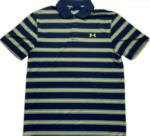 Under Armor Polo Size Medium 100% Polyester Loose Fit Made in Jordan $20.35