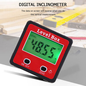 LCD Digital Protractor Angle Meter Finder Gauge Level Box Magnetic Inclinometer $14.90