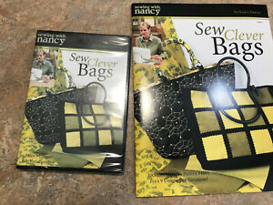 Sewing with Nancy Sew Clever Bags Pattern Book amp; CD New Free Ship $14.00