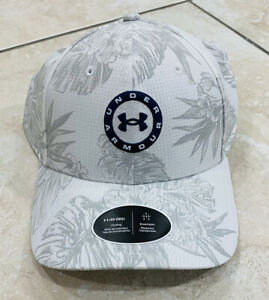 Mens Under Armour Golf Hat NWT Authentic White Adjustable Cap ISO Chill $35.00 $34.50