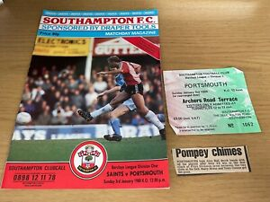 Southampton v Portsmouth Barclays League Div 1 Football Programme 3 1 1988