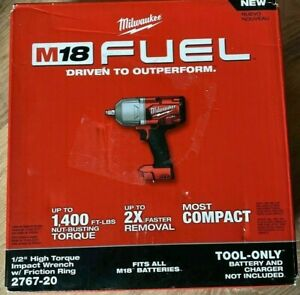 Milwaukee 2767 20 M18 FUEL High Torque 1 2 Impact Wrench with Friction Ring NEW