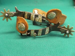NICE VINTAGE PAIR OF MOUNTED CROCKETT RENALDE WESTERN COWGIRL COWBOY SPURS
