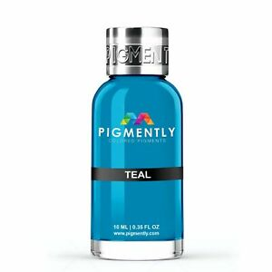 Teal Liquid Epoxy Pigment Resin Dye Premium PIGMENTLY Colors Free Shipping $5.00