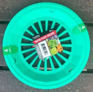 Plastic 9 Paper Plate Holders Set of 4 Teal $6.87 PICNICSBBQCAMPING