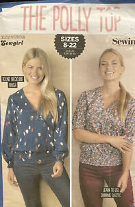 Sewgirl The Poly Top Simply Sewing Sizes 8 22 AU $16.00