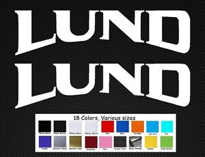Lund Boats Decal Set Stickers 10quot; Fishing Rapala Baitcaster Swim Bait Outboard