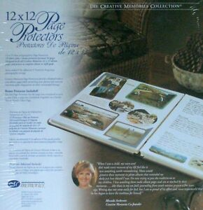 NEW CREATIVE MEMORIES 12x12 PAGE PROTECTORS 16 Sheets OLD STYLE $9.95