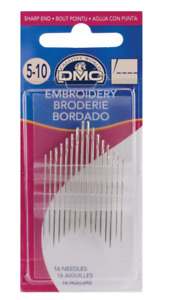 DMC 1765 5 10 Embroidery Hand Needles 16 pkg $2.87