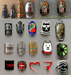 Road Bike MTB BMX Bicycle Metal Alloy Head Badge Decals Frame Stickers $14.77