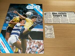 QPR v Everton Barclays League Division 1 Football Programme 2 9 1987
