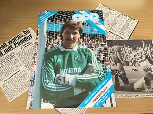 QPR v Portsmouth Barclays League Division 1 Football Programme 24 10 1987