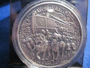 ONE OUNCE NOAH#x27;S ARK SILVER ANTIQUE ROUND $48.95