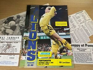 Millwall v Portsmouth Barclays League Division 1 Football Programme 3 4 1993