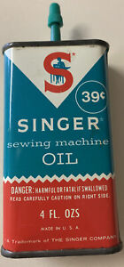 Vintage Singer Sewing Machine Oil Can Empty 39 Cents When New $5.29