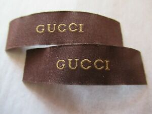 GUCCI 2 Clothing Designer Tag LABEL Replacement Sewing Accessories lot two $18.99