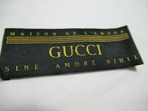 GUCCI 1 Clothing Designer Tag LABEL Replacement Sewing Accessories lot 1 $12.50