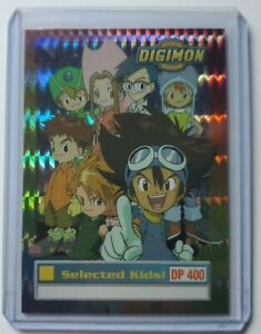 Digimon Selected Kids Holographic Silver Prism Exclusive Preview Card 1999. #1