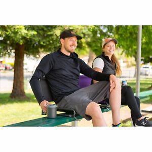 Ozark Trail Extra Wide Stadium Seat with Hooks Black Home Outdoor Sporting Goods