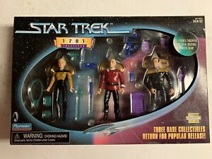 Star Trek 1701 Collector Series Yar Picard Barclay Action Figures