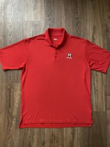 Under Armour Golf Polo Shirt Miami of Ohio Redhawks Mens Size Large L Red $14.98