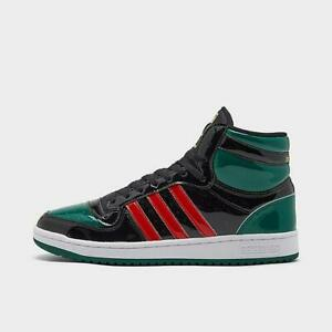 {FX7874} adidas Top Ten Black Green Red Patent *NEW*