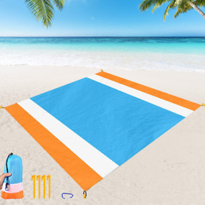 Beach Blanket Sand Proof Extra Large Beach Mat Outdoor Picnic Blanket 84 x 79