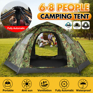 4 Season 6 8 People Waterproof Portable Outdoor Automatic Instant Hiking Tent
