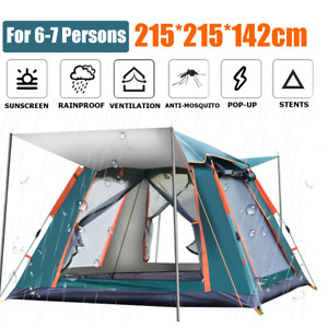 6 7 People Large Waterproof Automatic Outdoor Instant Pop Up Tent Camping Hiking