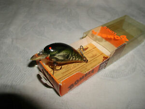 VINTAGE BOMBER LURE Model A 2AXC2 Green Crawdad OB New in Box OS:DISC.