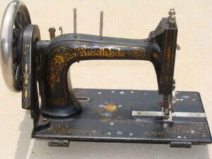 Biesolt amp; Locke Meissen Antique Sewing Machine Vintage Cast Iron Rare Original $129.99