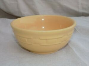 Woven Traditions Soup Salad 5 1 2quot; Bowl Butternut Yellow Longaberger Pottery $16.95