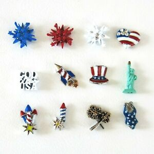 Authentic Origami Owl 4th Of July Patriotic Floating Charms Retired Some htf