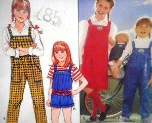 💚 Butterick 6805 Doll Jumper Children Overall Cabbage Patch Kids Sewing Pattern $4.95