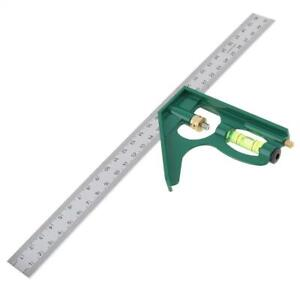 300mm Adjustable Engineers Combination Try Square Set Right Angle Ruler Level $9.29