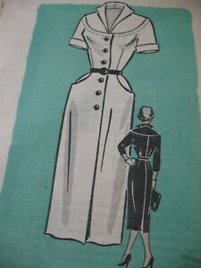 Vintage SEWING PATTERN Mid Century Marian Martin SLIM DRESS Round Yoke 14 32 F F $12.50